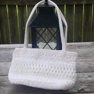 White crochet the sak purse
